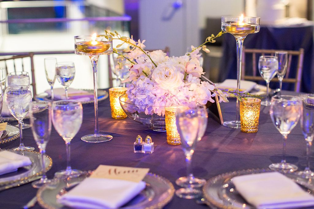 Gold and White Table Details / Indian Wedding / Summer