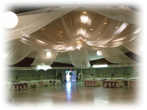 Tulle Wedding Decorations Ceiling, Cheap And SOOOOO Proud!