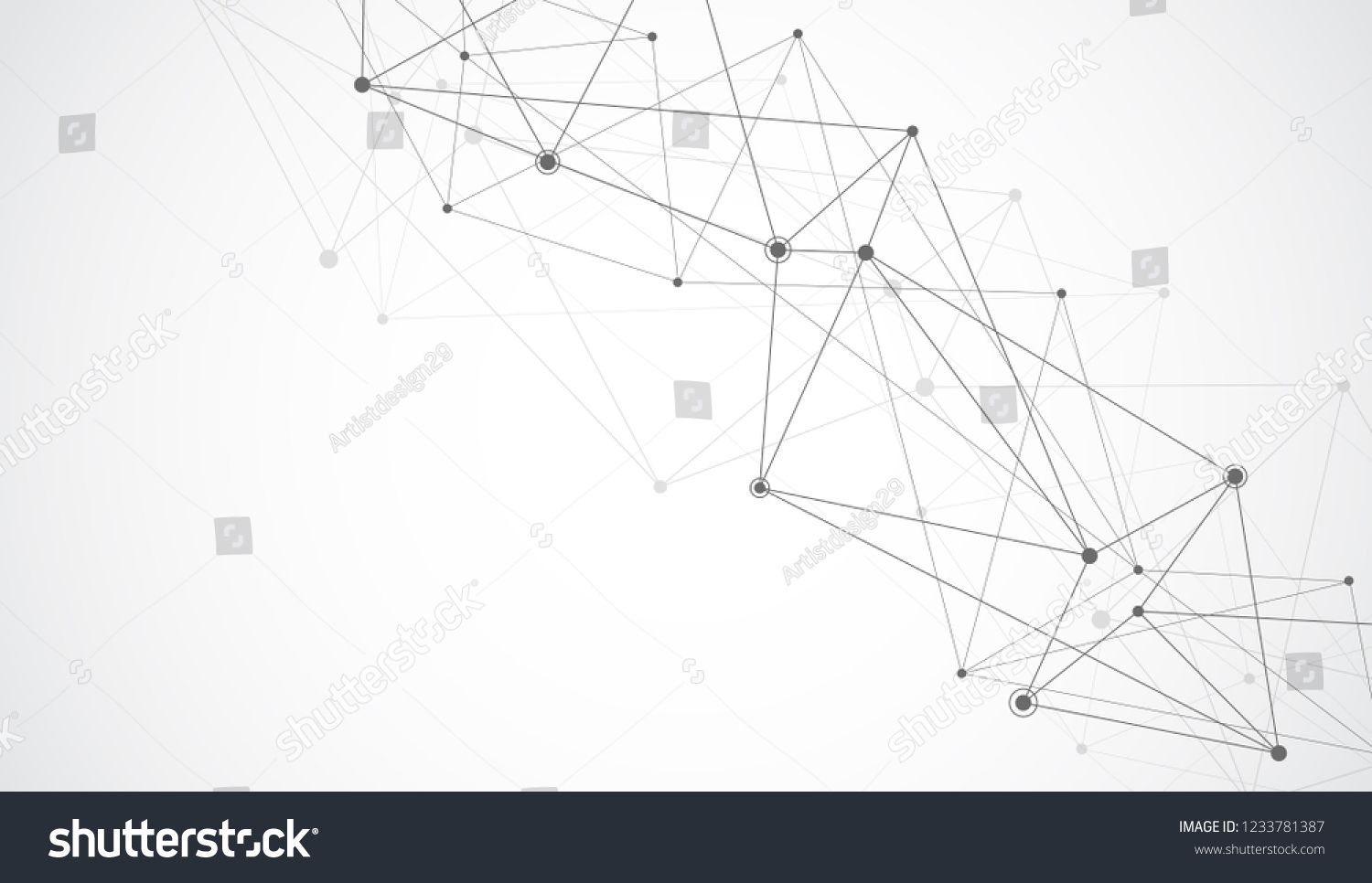 Connect Lines And Dots Internet Connection Abstract Sense Of Science And Graphic Design Banner Template Banner Template Graphic Design Technology Background
