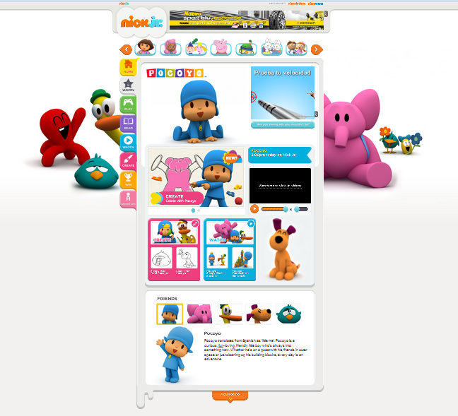 THE TV CHANNEL Nick Jr. FALLS IN LOVE WITH POCOYO! www.pocoyo.com ...