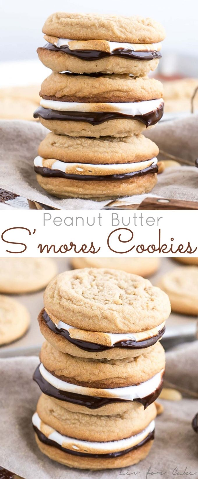 Peanut Butter S'mores Cookies   Liv for Cake