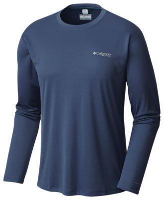 cd41147f252 Columbia PFG Zero Rules Long-Sleeve Shirt for Men - Dark Mountain - 2XL