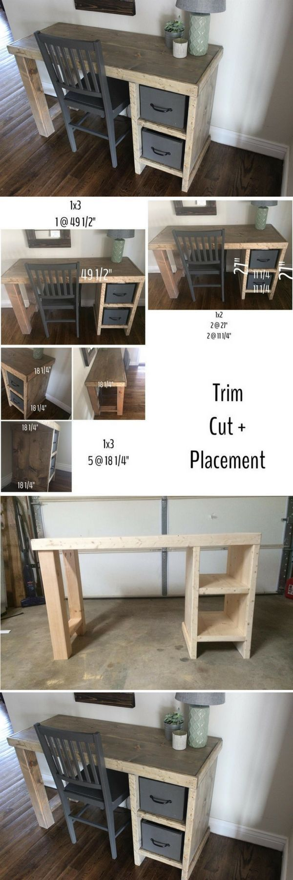 Check out the tutorial how to build an easy DIY home office desk ...