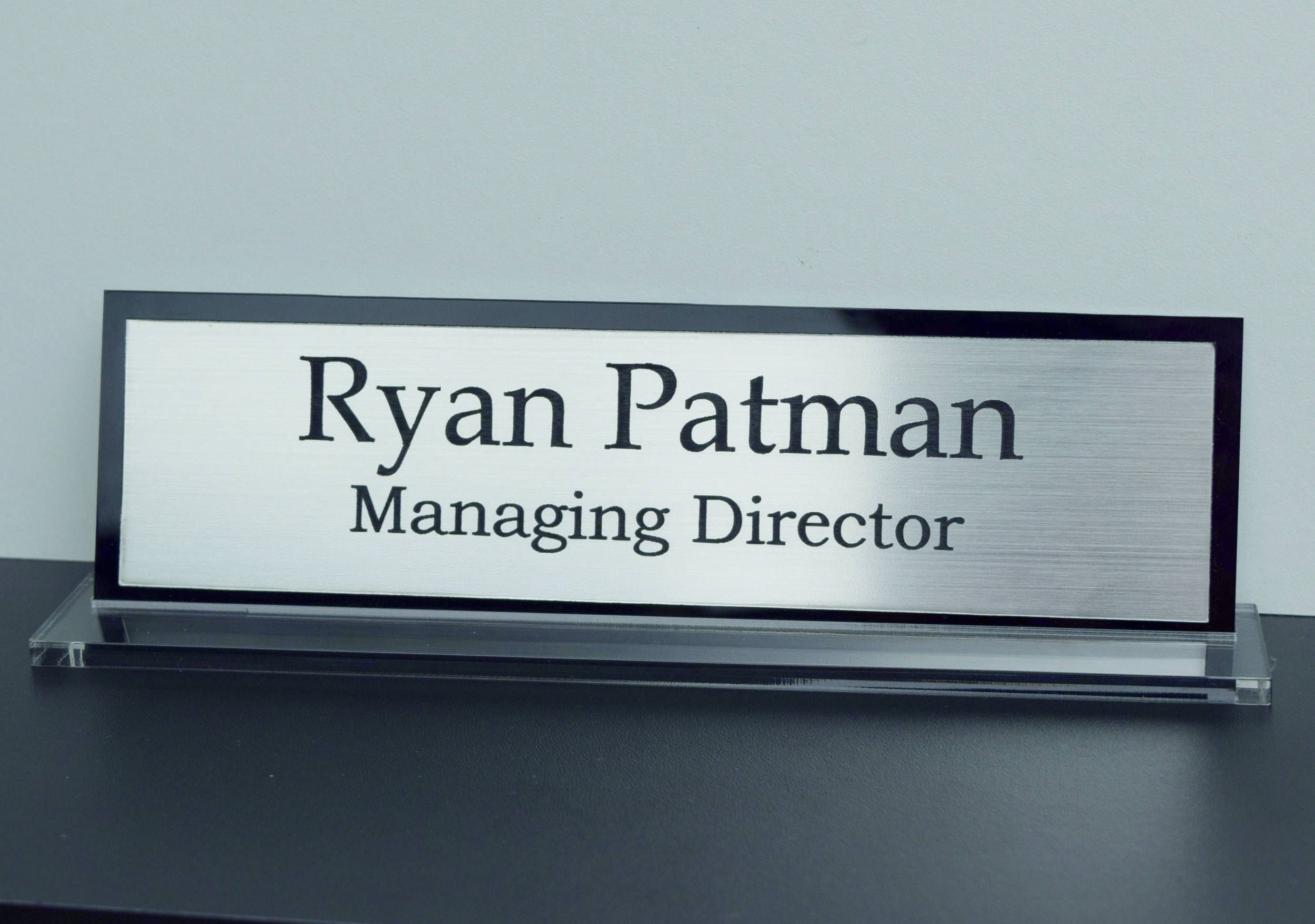 Executive Personalised Desk Name Plate, Custom Engraved Sign, Office Plaque  By LaserVinylArts On Etsy