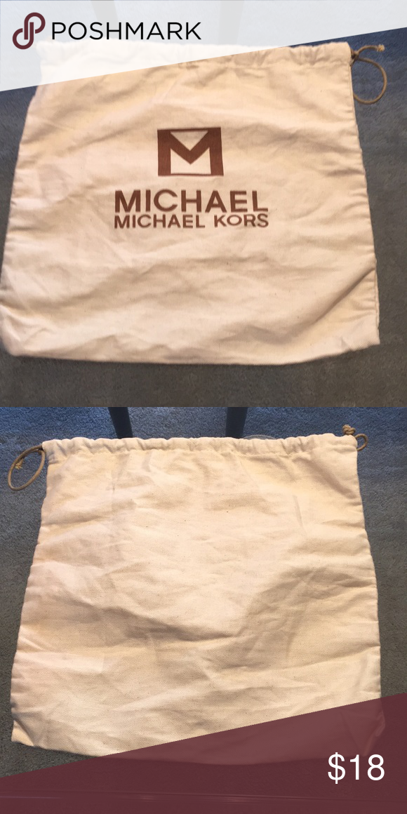 Michael Kors Dust Bag Authentic Stylish And Perfect For Keeping Your Items Clean Safe