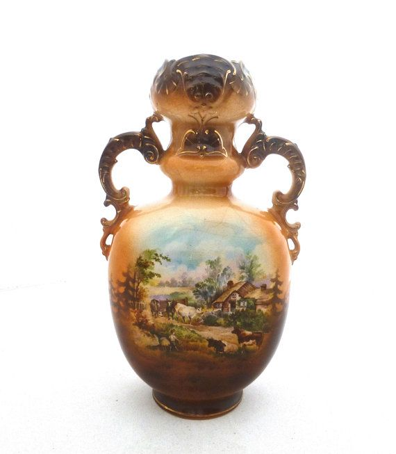 Vintage Austrian Vase Urn Style With By Funkandmorevintage On Etsy
