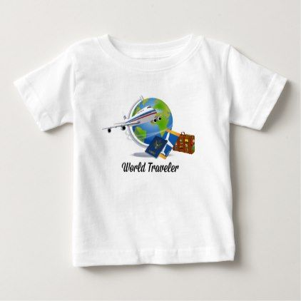 #World Traveler Packed and Ready to Go Baby T-Shirt - #travel #clothing