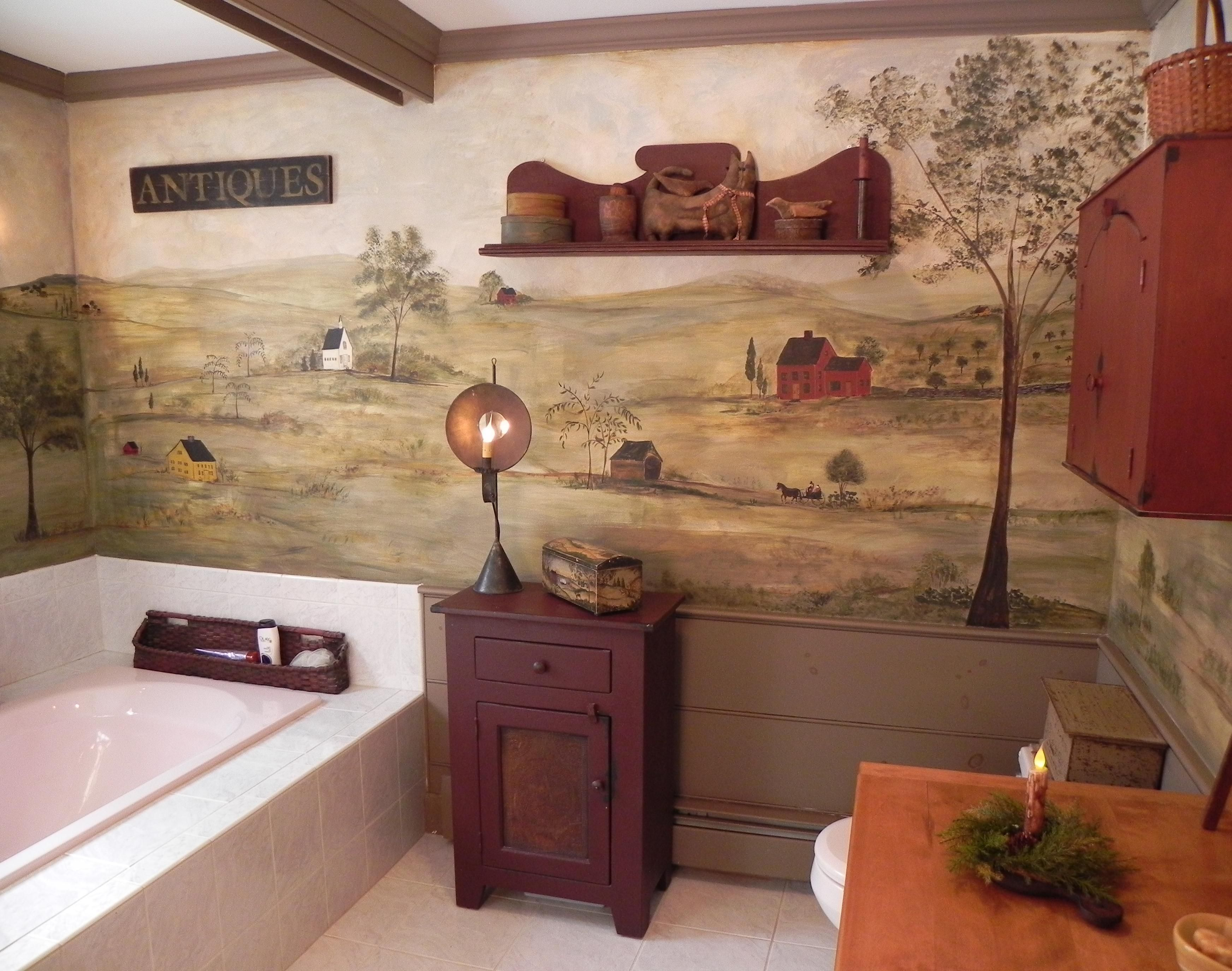 Primitive country bathroom ideas - Find This Pin And More On Colonial Bathroom