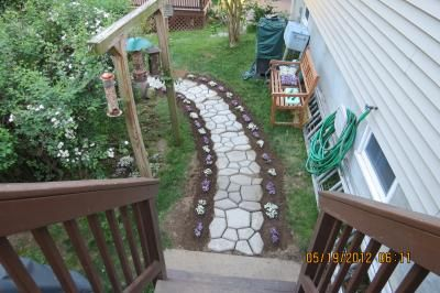 Do It Yourself Concrete Stone Pathway Concrete Mold From