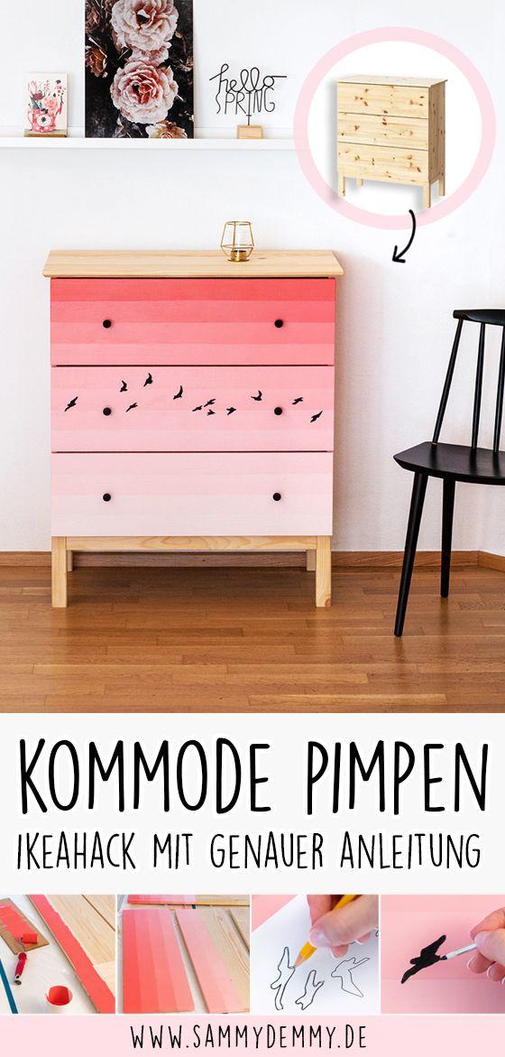 Photo of Pimp my TARVA: IKEA-Kommode kreativ bemalen