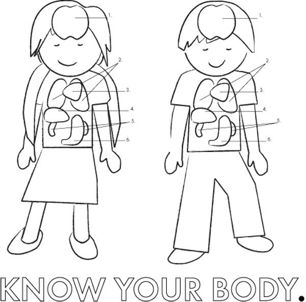 Coloring Pages Kids Parts Body: Pin By Aleka Molokova On Coloring Pages
