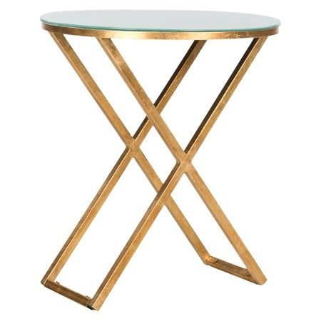 Accent Table Gold White - Safavieh : Target