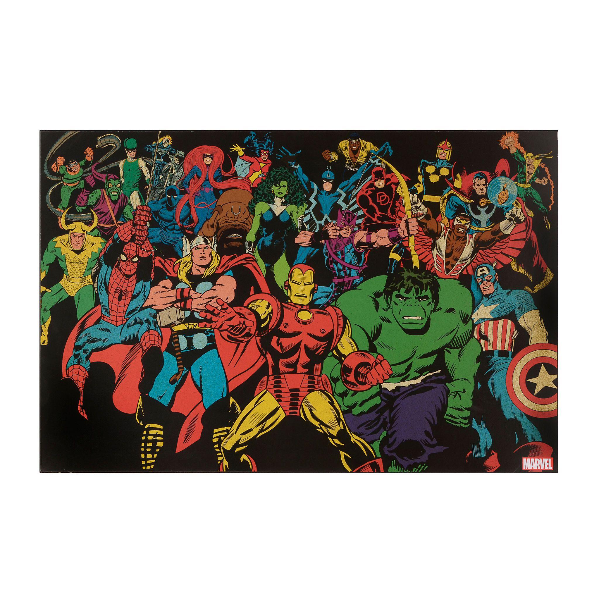 Marvel Universe Framed Art Print