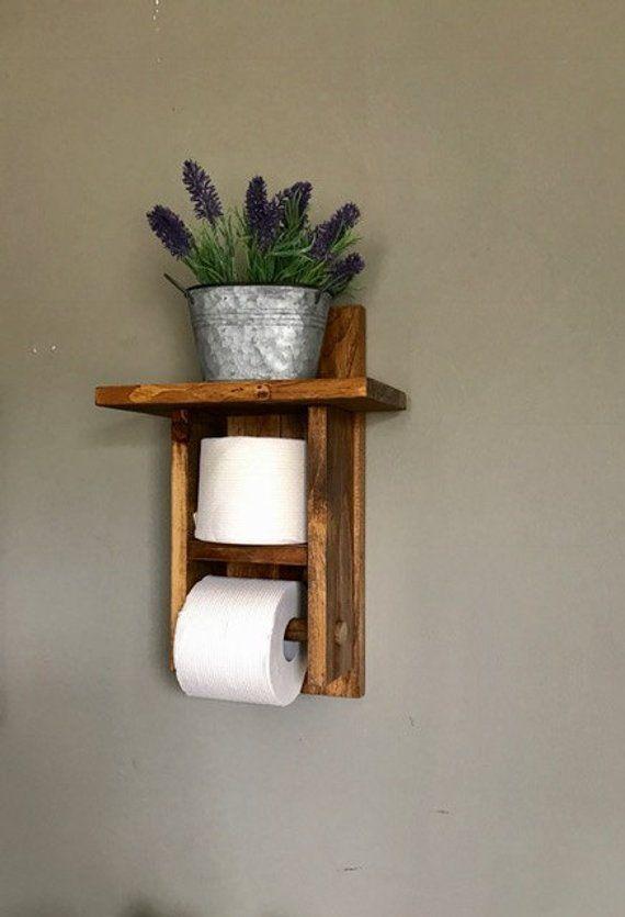 Farmhouse Bathroom Decor, Farmhouse Bathroom Wall Decor, Farmhouse Bathroom Shelf, Rustic Bathroom Wall Decor, Rustic Bathroom Decor #toiletpaperrolldecor