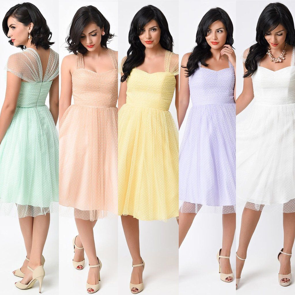Retro vintage cocktail dress with sheer cap sleeves in pastel retro vintage cocktail dress with sheer cap sleeves in pastel colors unique bridesmaid dress xs ombrellifo Image collections