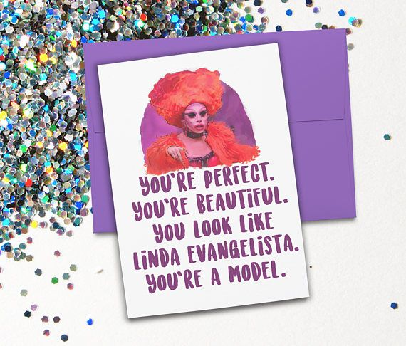 RuPaul Drag Race Aja Valentina Card Birthday Special