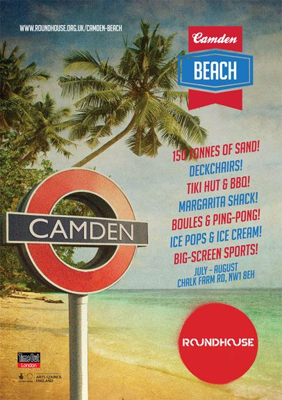 Camden Beach | Roundhouse - beach in the roundhouse until August