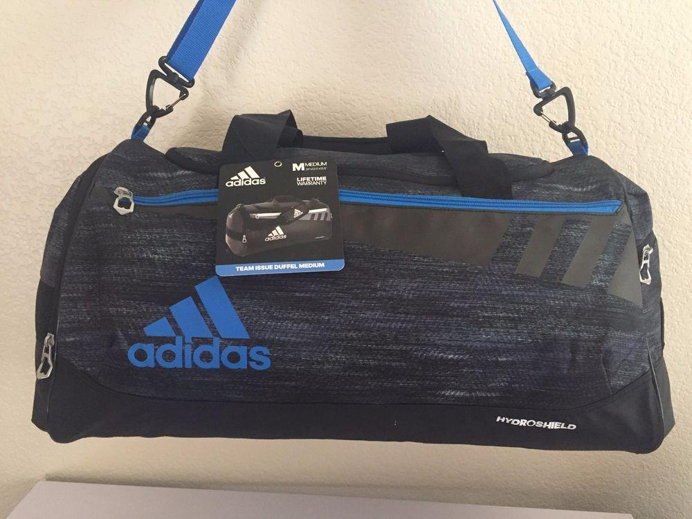 bea48591f402 ADIDAS Team Issue Duffel Medium Men Gym bag luggage Macro heather  Black Shock.  Adidas