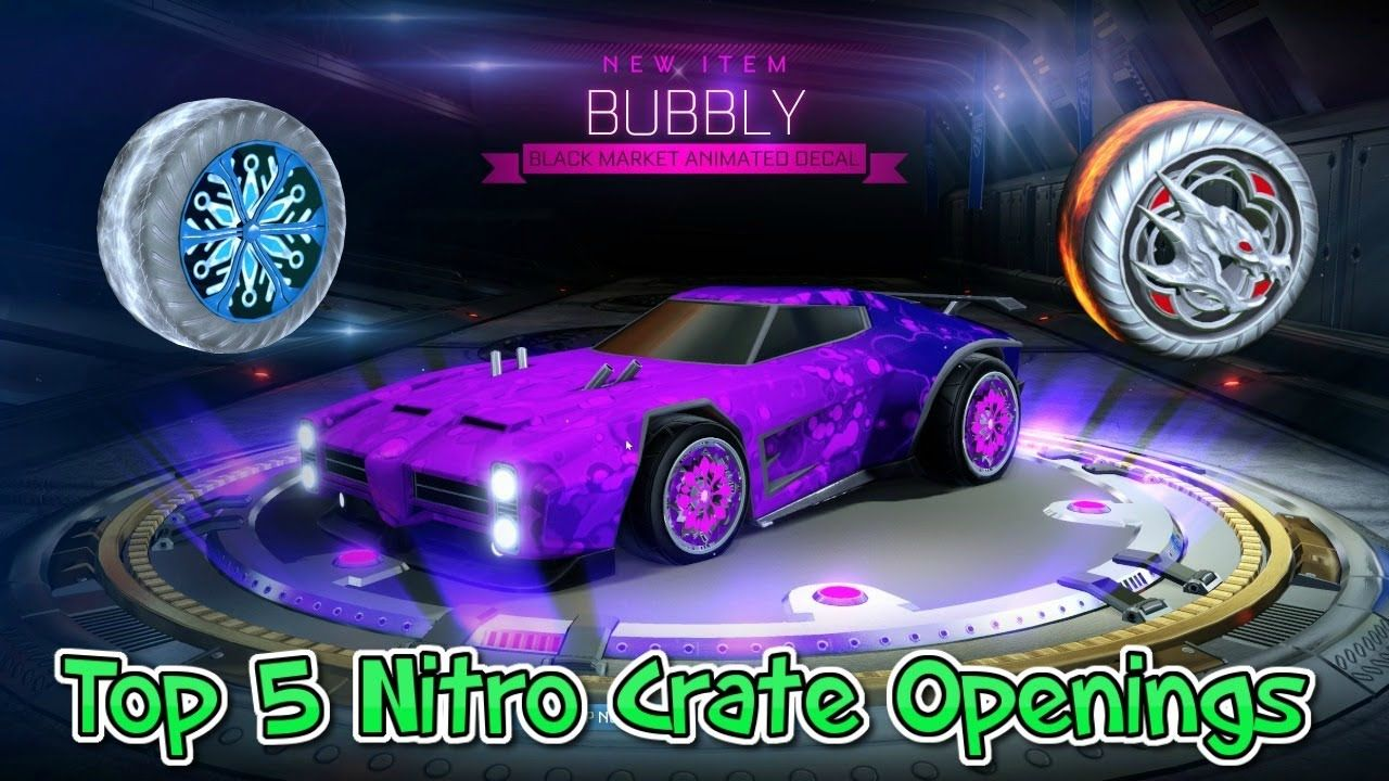 top 5 nitro crate opening rocket league vids pinterest