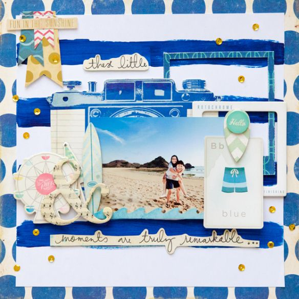 #papercraft #scrapbook #layout    Fun in the sun by evelynpy