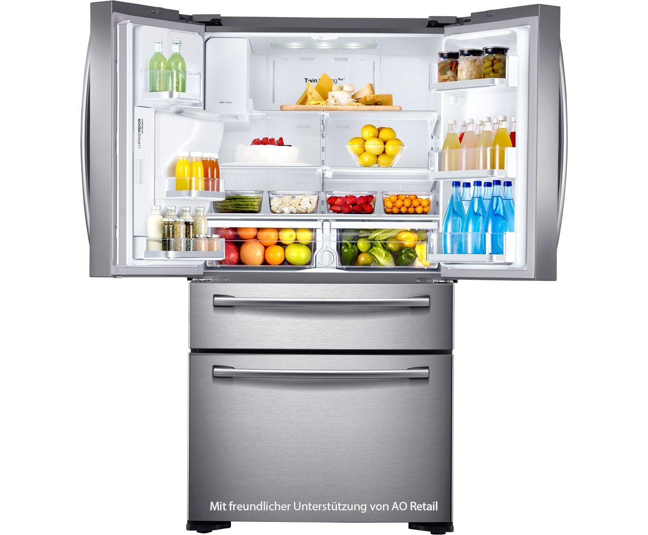 Kühlschrank Amerikanisch samsung rf24hsesbsr eg side by side freistehend a silber