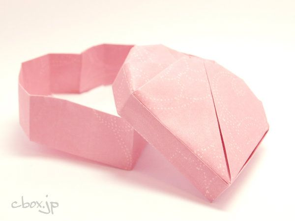 折り紙の 折り紙のハートの折り方 : jp.pinterest.com