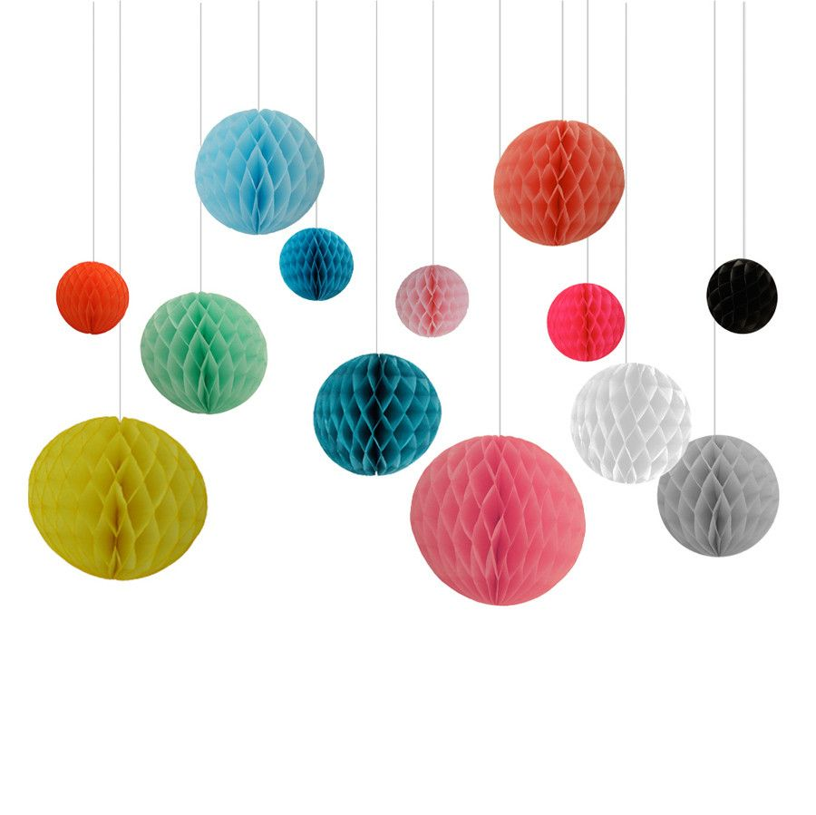 Honeycomb Decorations Paper Balls Hanging Decorations Paper Honeycomb Bunting Balls  Nursery