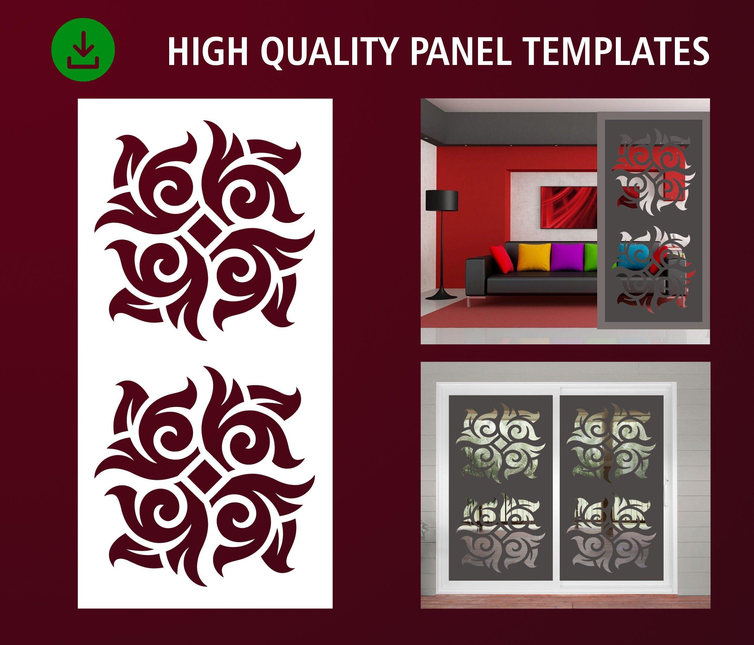Privacy Screen Room Divider Plasma Dxf,Jpg Laser Wall Handing Cnc Stencil Decorative Panel Cdr