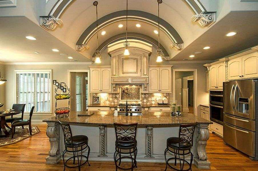Lshape Kitchen Design Faucet Trends With Wooden Cabinet And Amazing Kitchen Design Latest Trends Inspiration