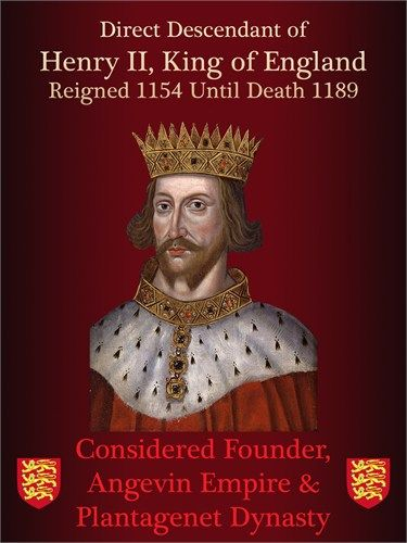 Henry II, King of England: my 27th great-grandfather.