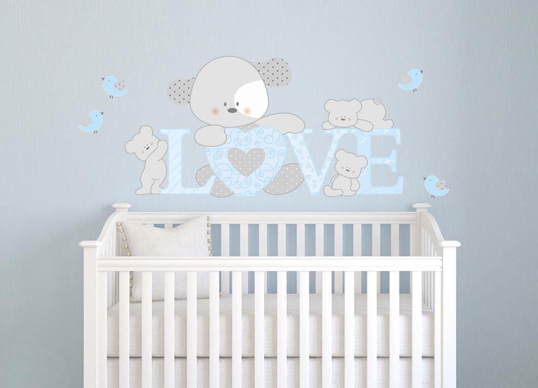 Großartig Wandtattoos Babyzimmer Ideen Von Adesivi Murali Bambini, Decorazioni Camerette, Cagnolino Love