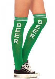Beer Time Athletic Knee High Socks - 372389 | trendyhalloween.com