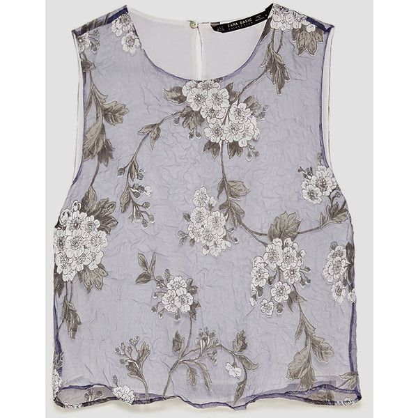 c7e75cf699258 EMBROIDERED ORGANZA TOP - View all-TOPS-WOMAN