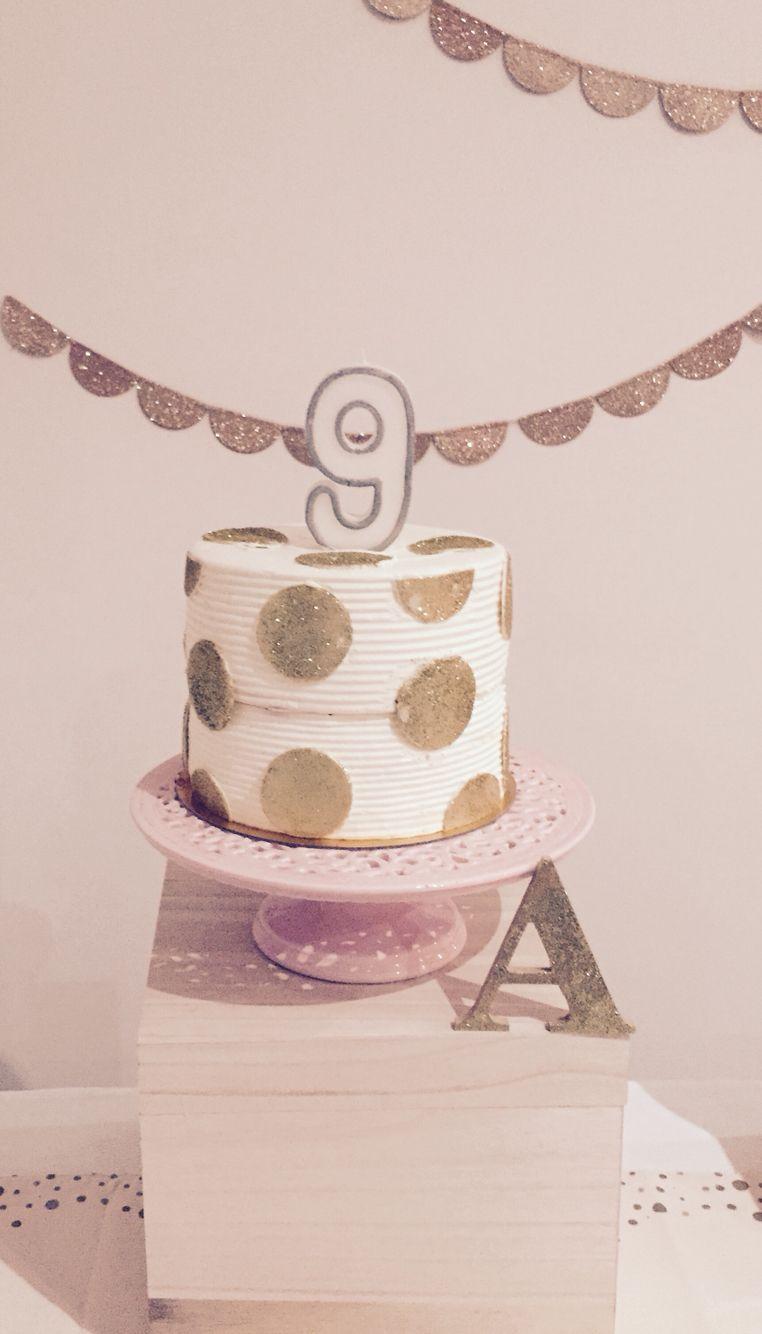 Gold glitter spot birthday cake birthday cake gold