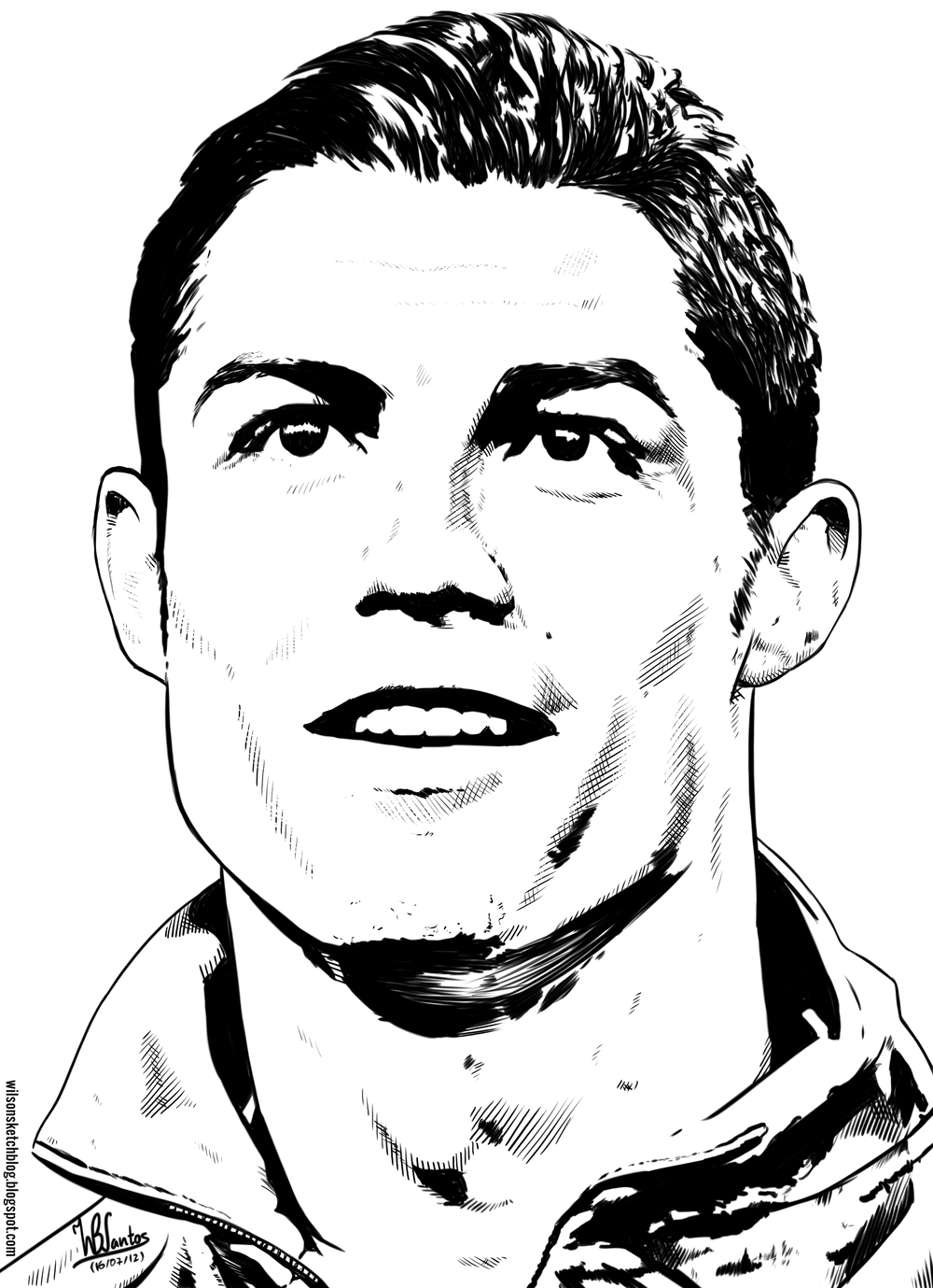 Cristiano Ronaldo Face Line Art Drawing Eps In 2019 Pinterest