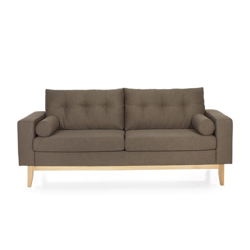 Canapé fixe vintage Kenora coloris taupe | Meubles pas Cher | Sofa ...