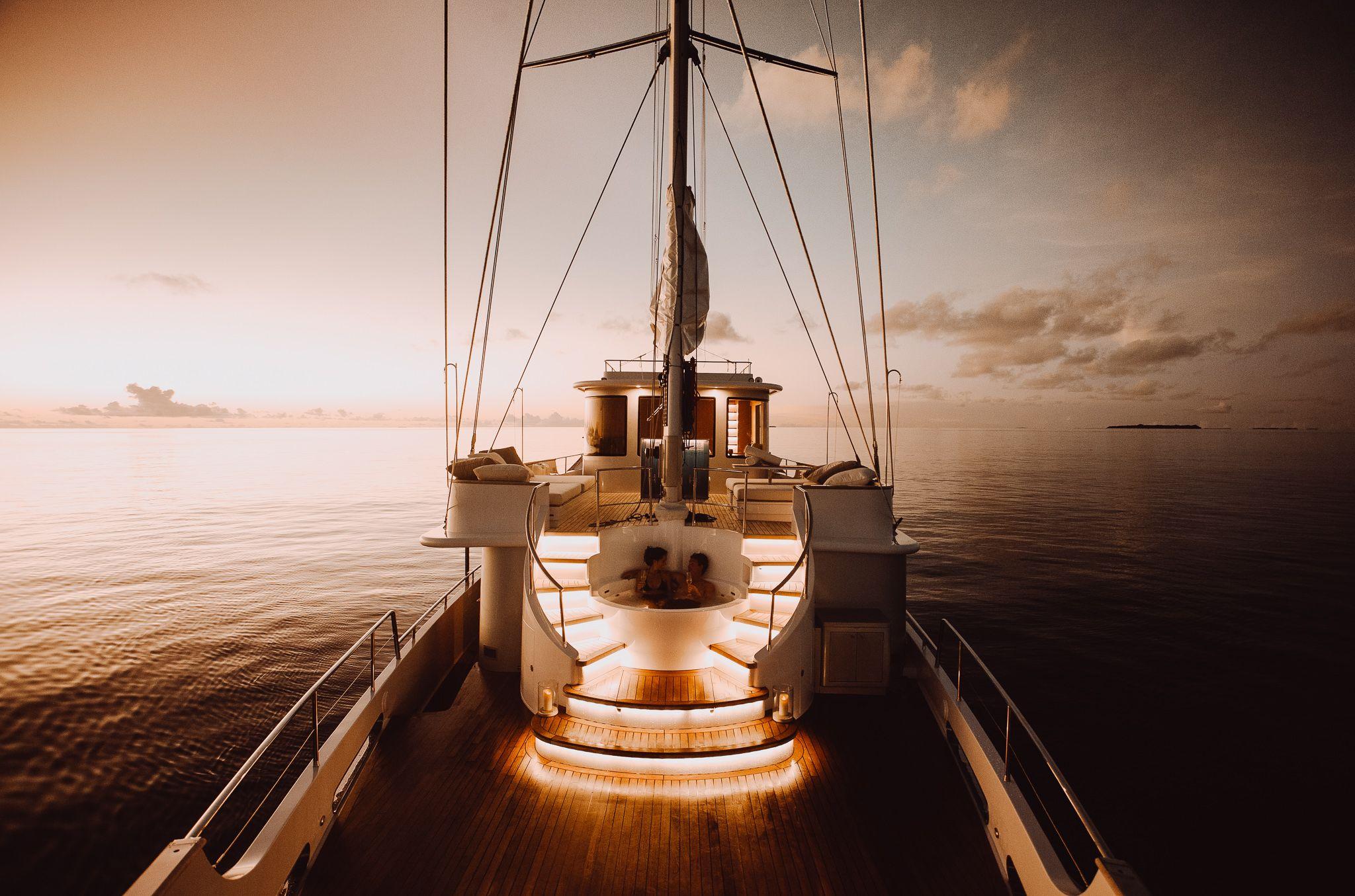 Sunset Jacuzzi | Soneva in Aqua #soneva #sonevafushi #luxurytravel #luxeescapes #maldives | Yacht, Luxury yachts, Yacht cruises