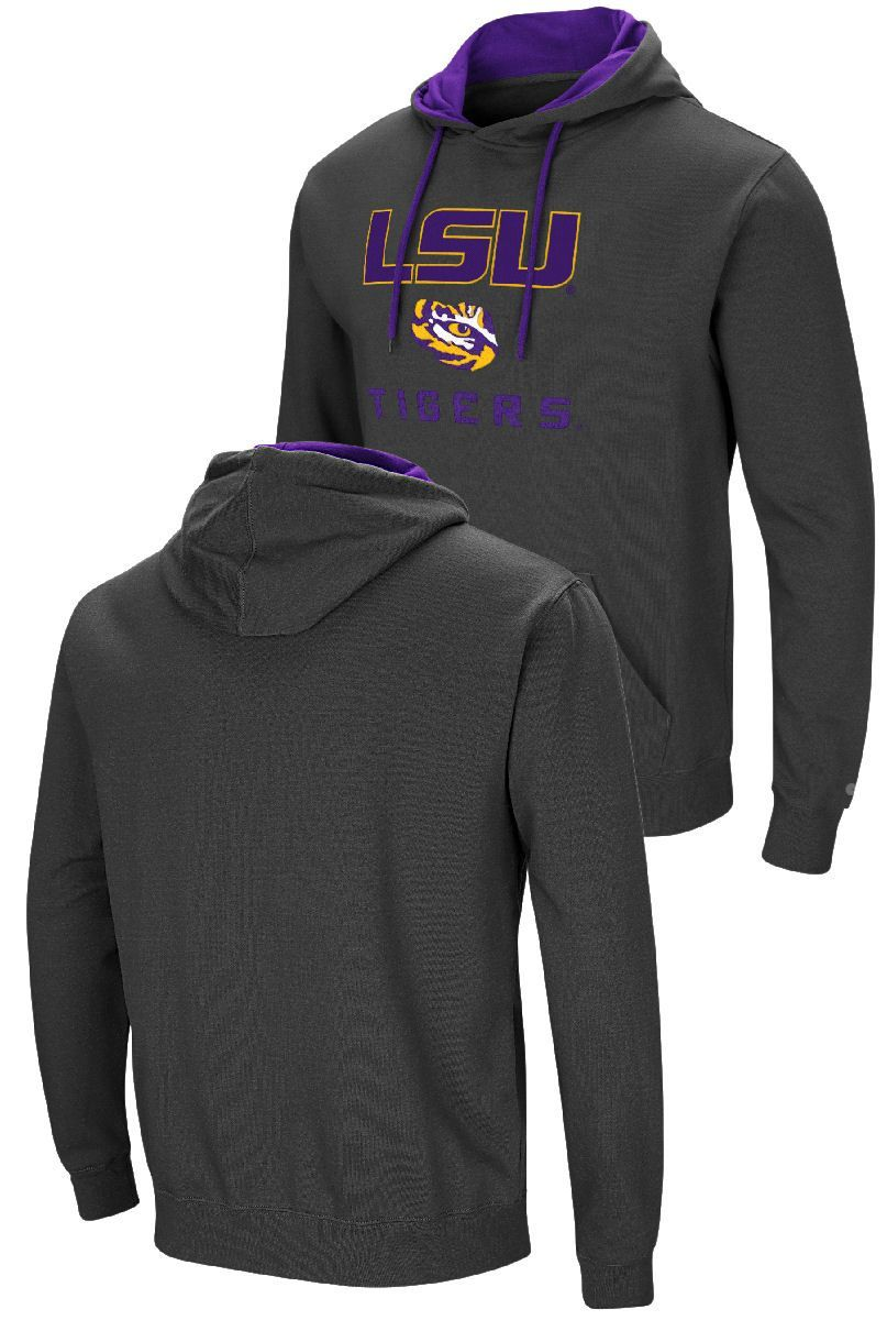 Colosseum NCAA Mens Cajun Long Sleeve Raglan Secondary Team Color Tee