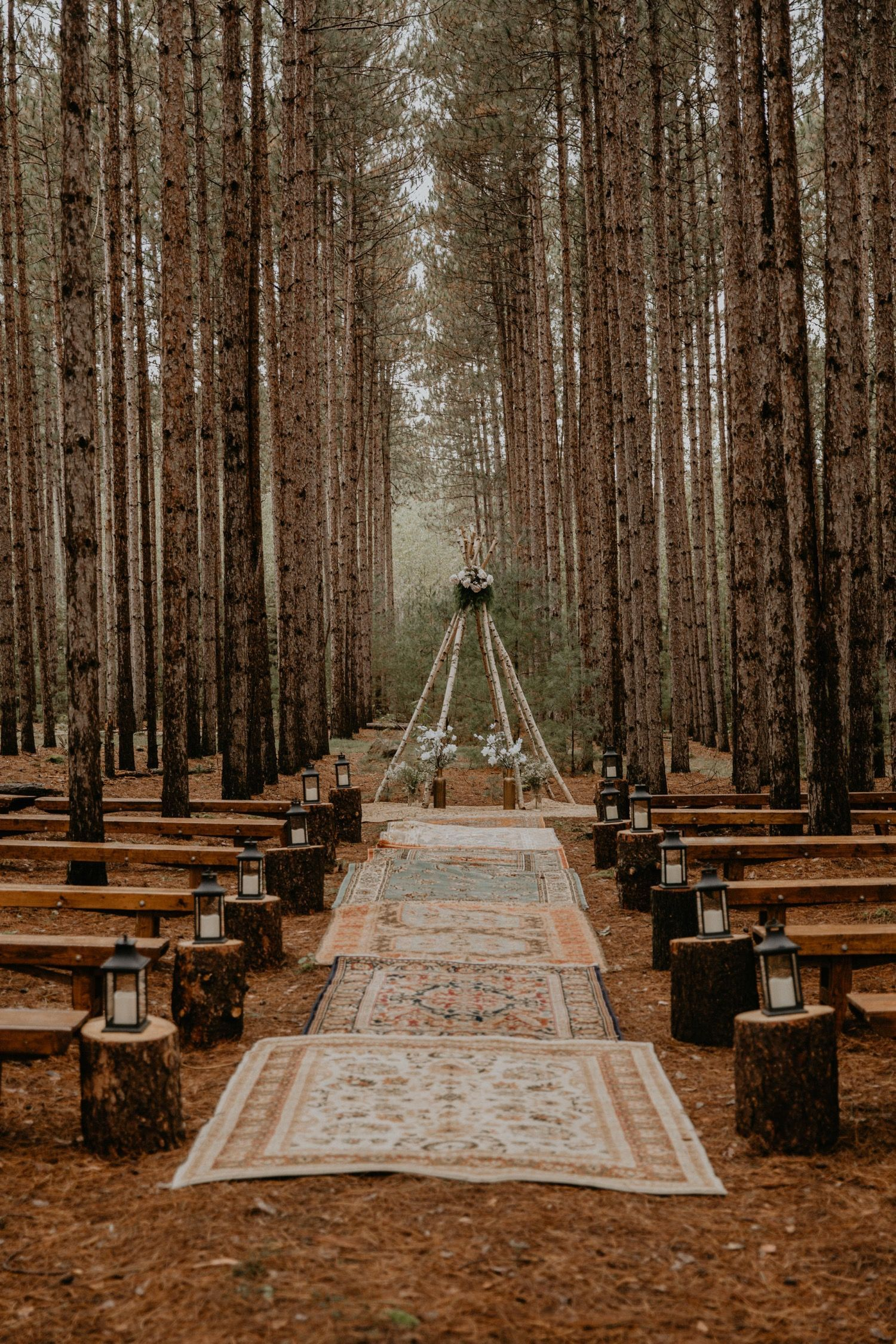 Romantic Boho-Chic Wisconsin Forest Wedding