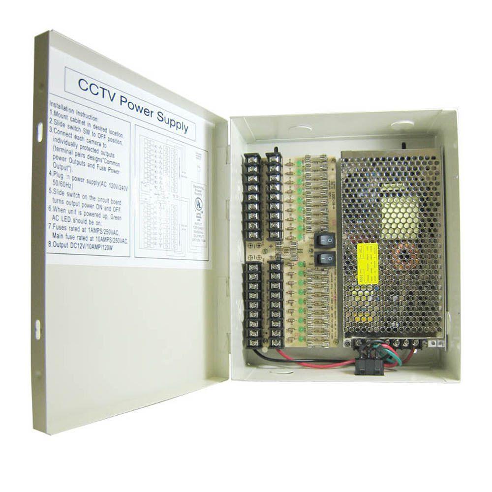 8 CH CCTV security camera power supply box 9 CH 12 V DC