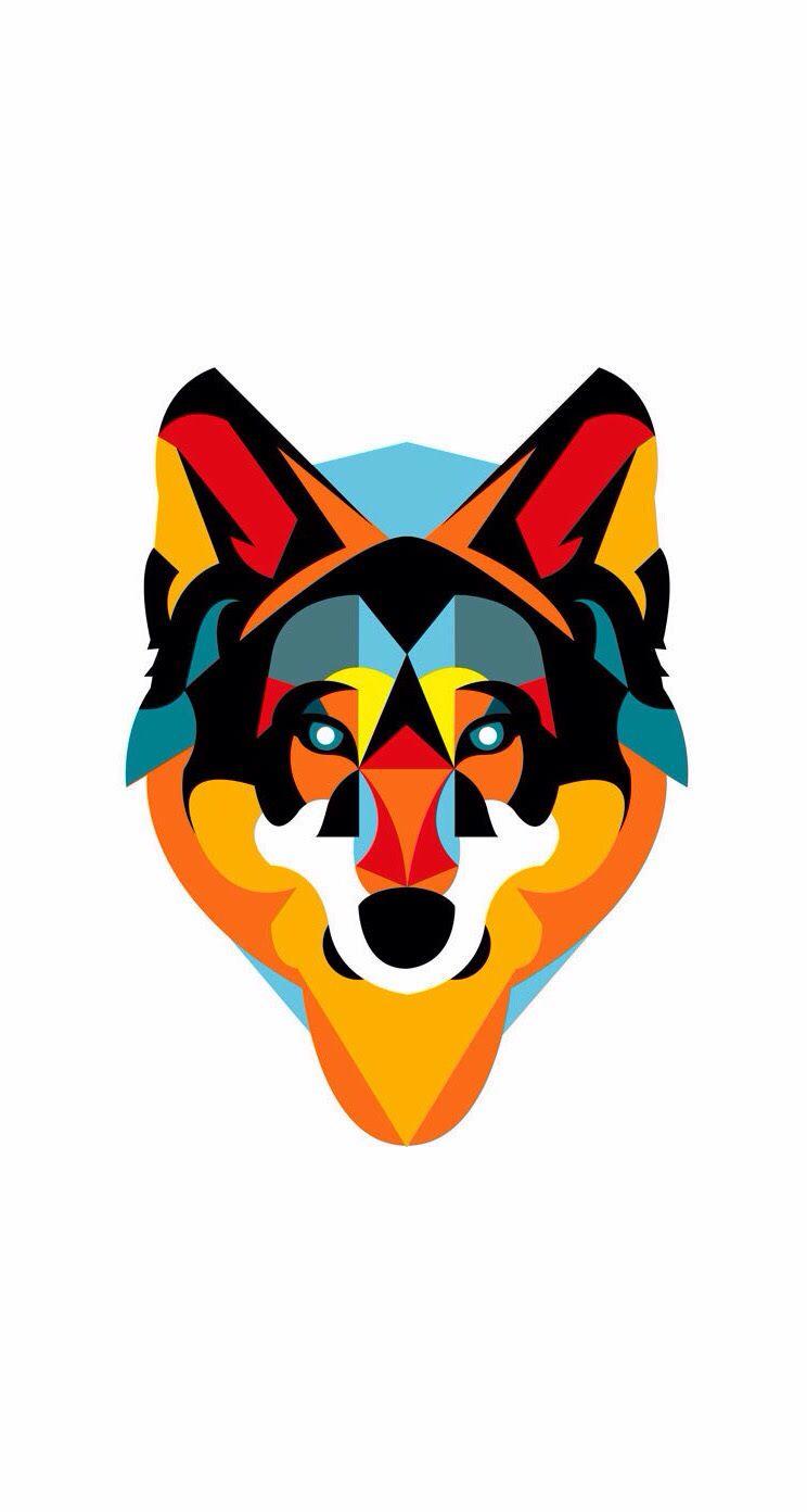 Wallpaper iphone geometric - Geometric Wolf Iphone Wallpaper