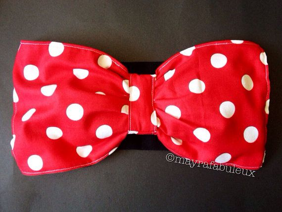 59df3b1cc42 Minnie Mouse Inspired polkadots Bow Bandeau by mayrafabuleux