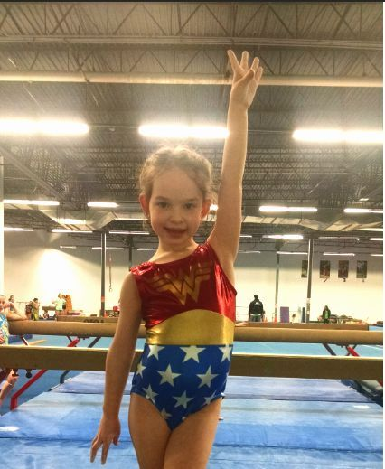 62d951017 WONDER GIRL! Gymnastics Leotard  FREE SHIPPING and FREE Scrunchie ...