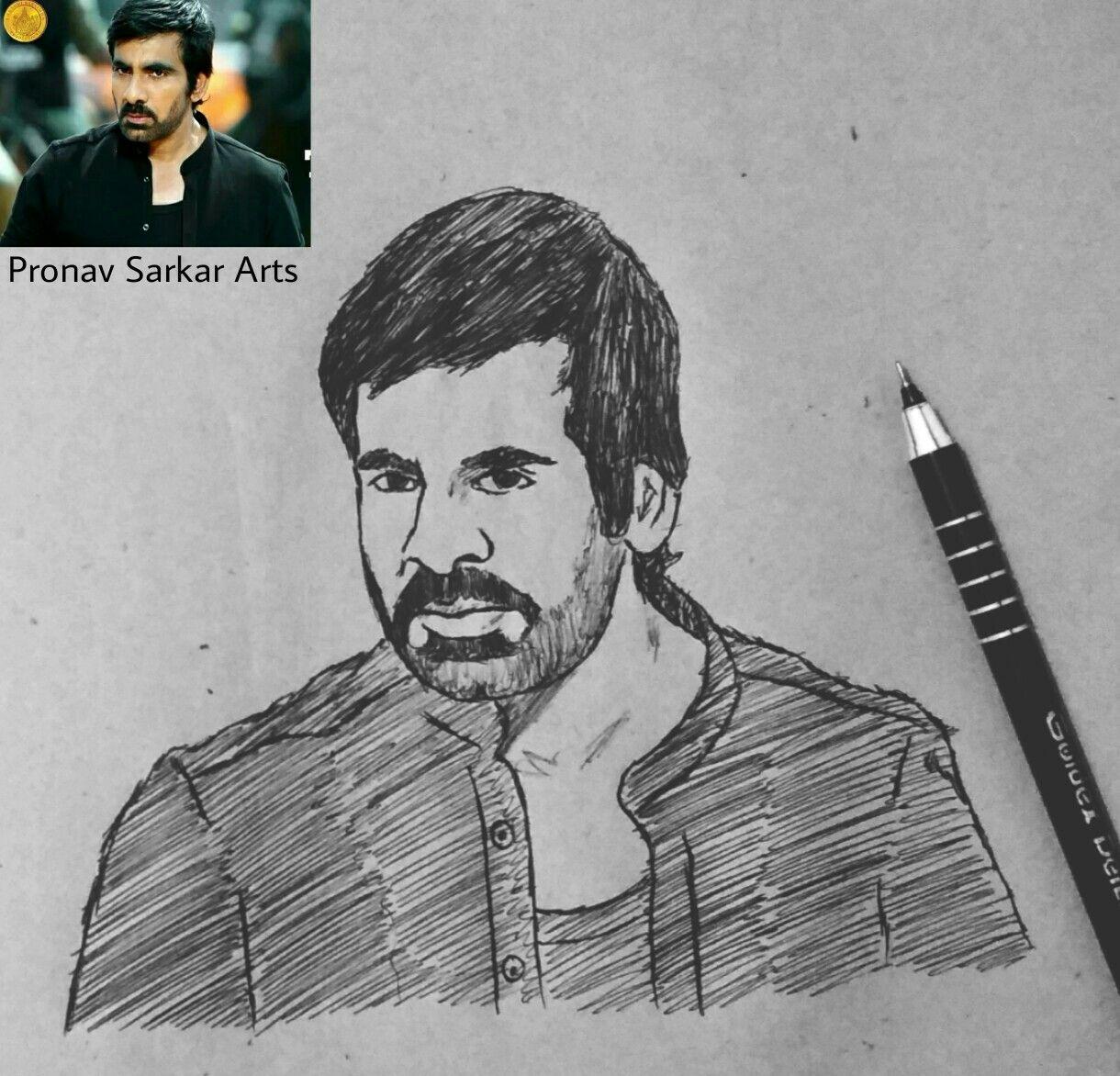 Ravi Teja Sketch Sketches Pencil Sketch Art