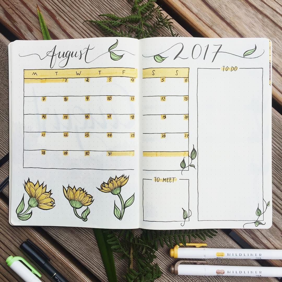 """12 Likes, 3 Comments - Pascale (@pasquieplans) on Instagram: """"🌿 Monthly Spread is here! 🌻 I found that a to-do list on the monthly spread works very well for me,…"""""""
