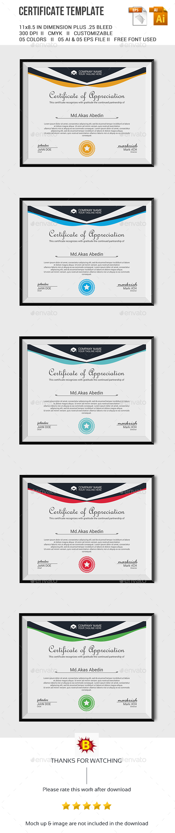 Certificate Template Vector EPS, AI. Download here: http ...