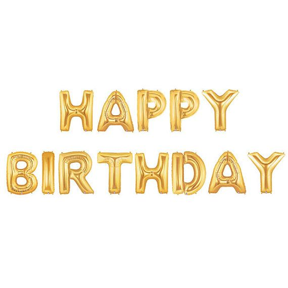 Happy Birthday Letter Balloons Happy Birthday Banner | Balloons ...