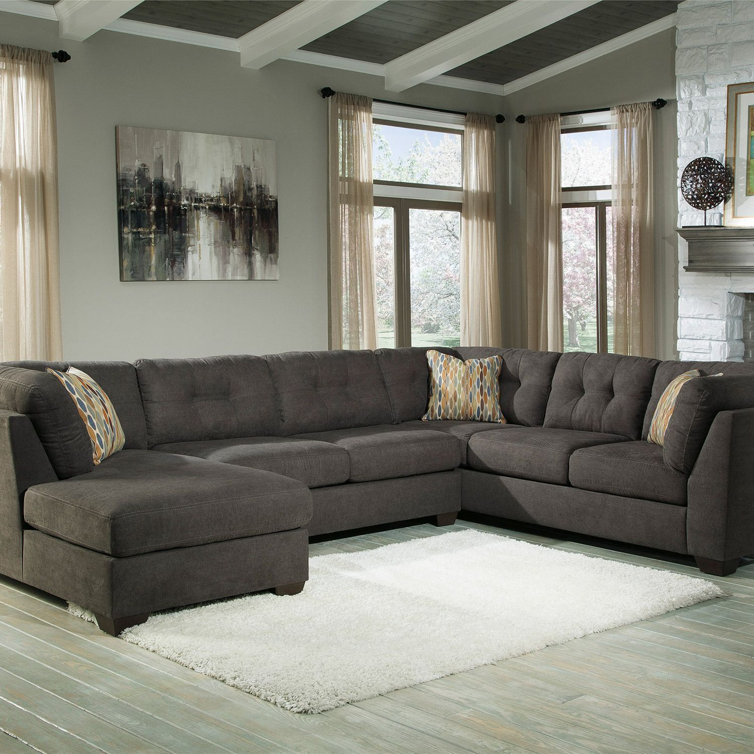 Truscotti Cafe Extended Chaise End Sectional category living