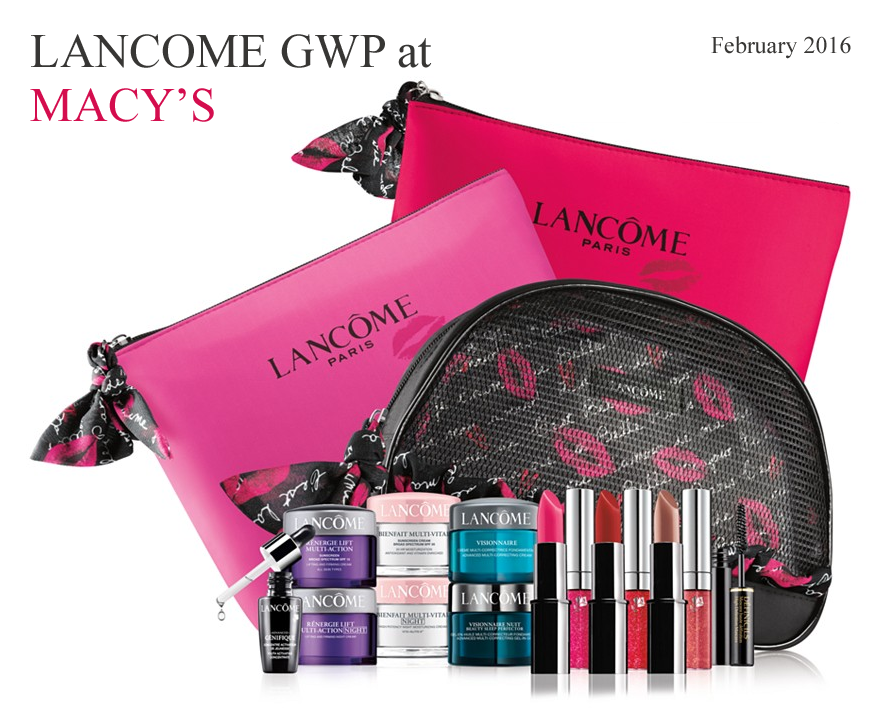 Spend $35 on Lancome at Macy's and you can choose your 7-piece ...