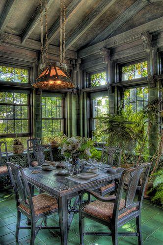 Garden Room in Duluth's Glensheen Mansion.